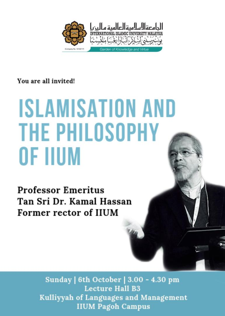Islamisation and the philosophy of IIUM