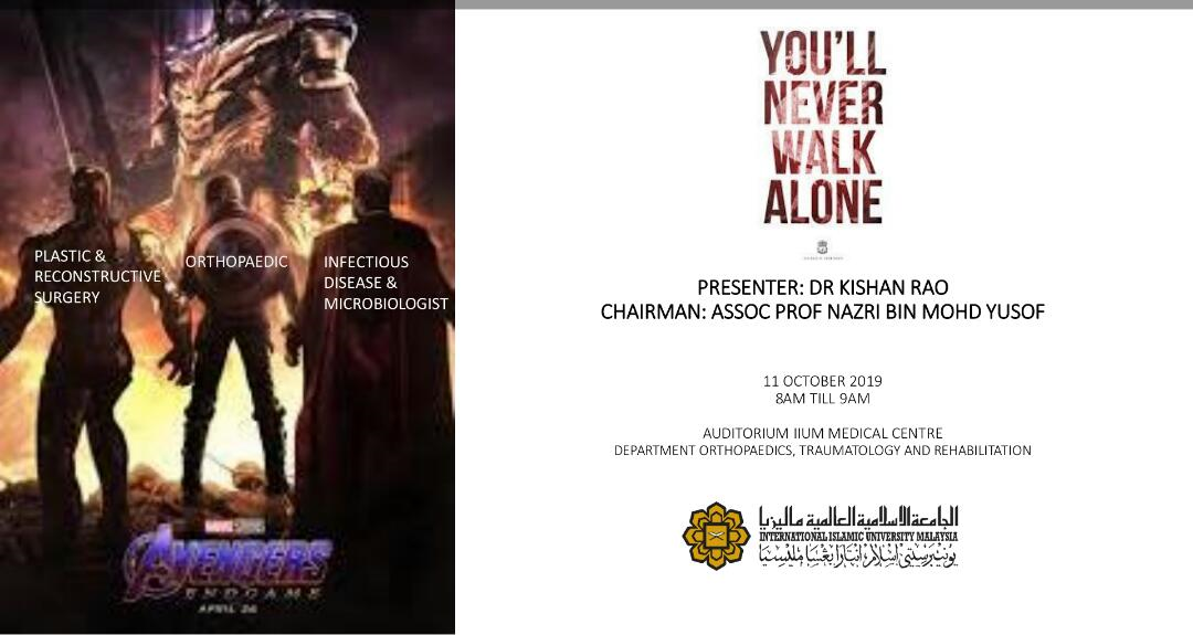 'You'll Never Walk Alone' - KOM CPC by Dept. of Orthopaedocs,Traumatology and Rehabilitaion