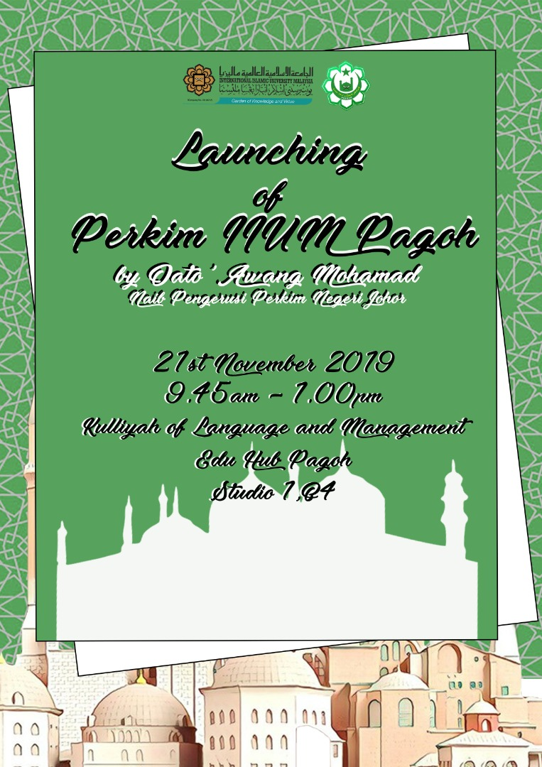 Launching of Perkim, IIUM Pagoh