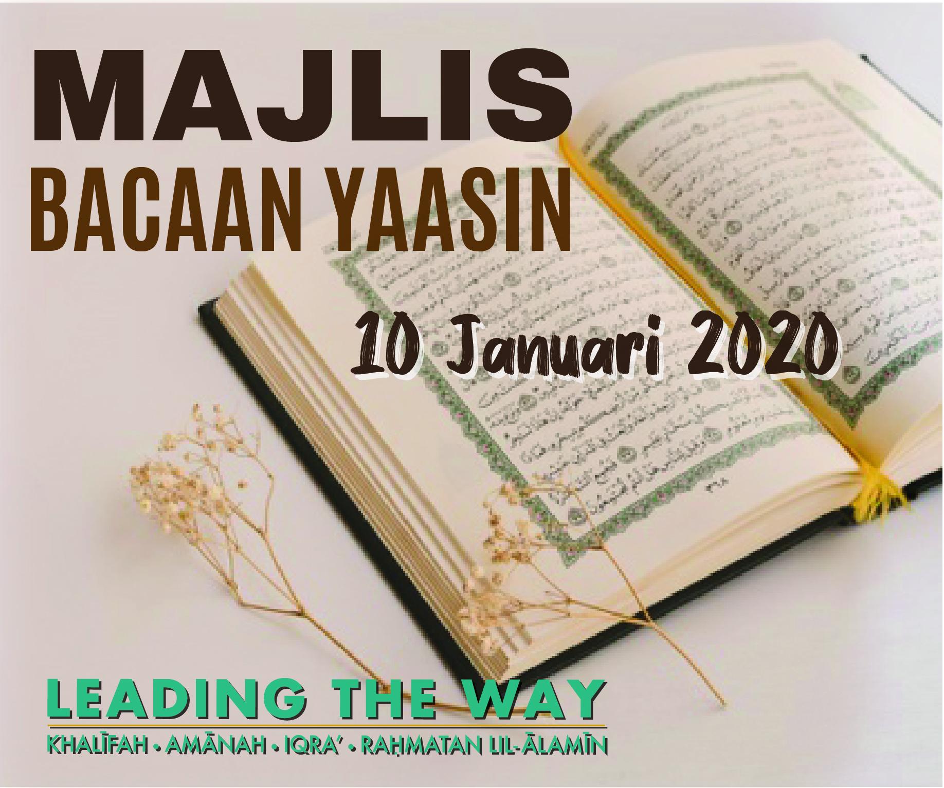 Majlis Bacaan Yaasin - Januari 2020
