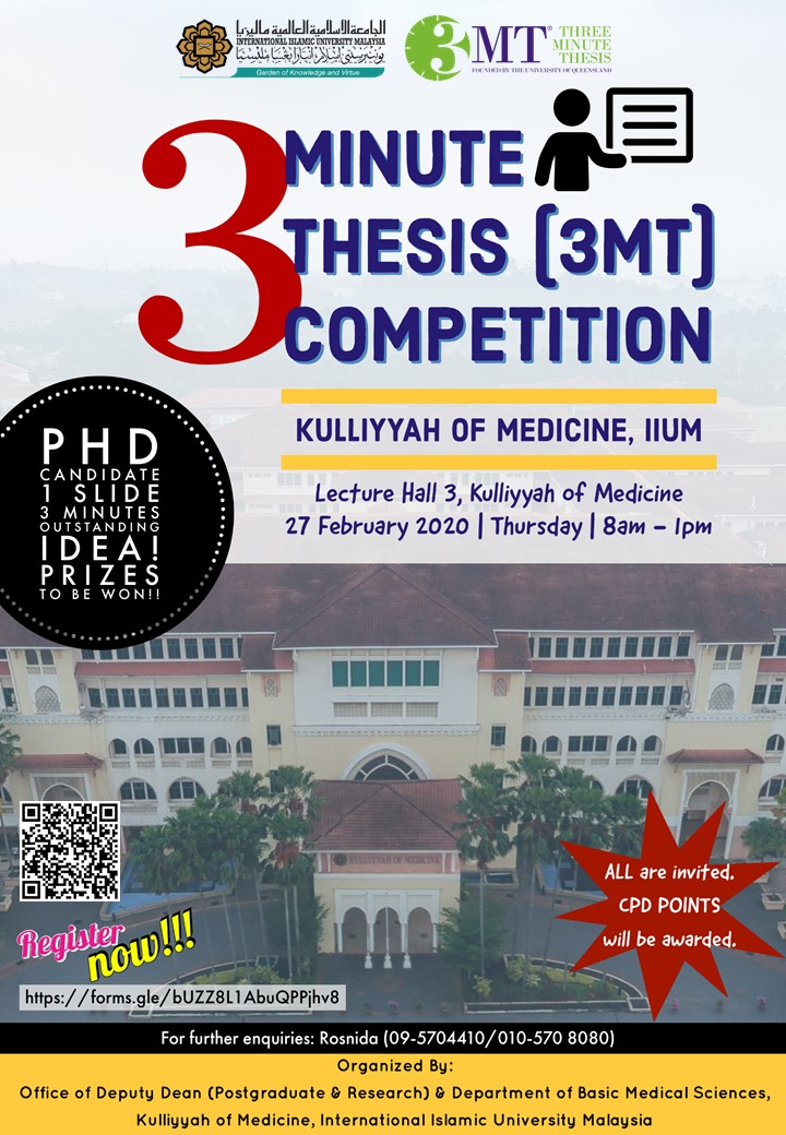 3 Minute Thesis (3MT) Competition