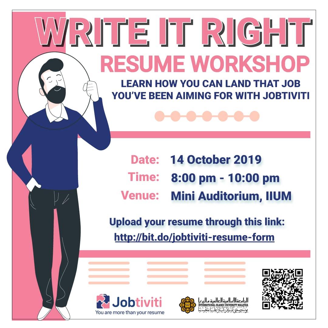 Write it Right Resume Workshop