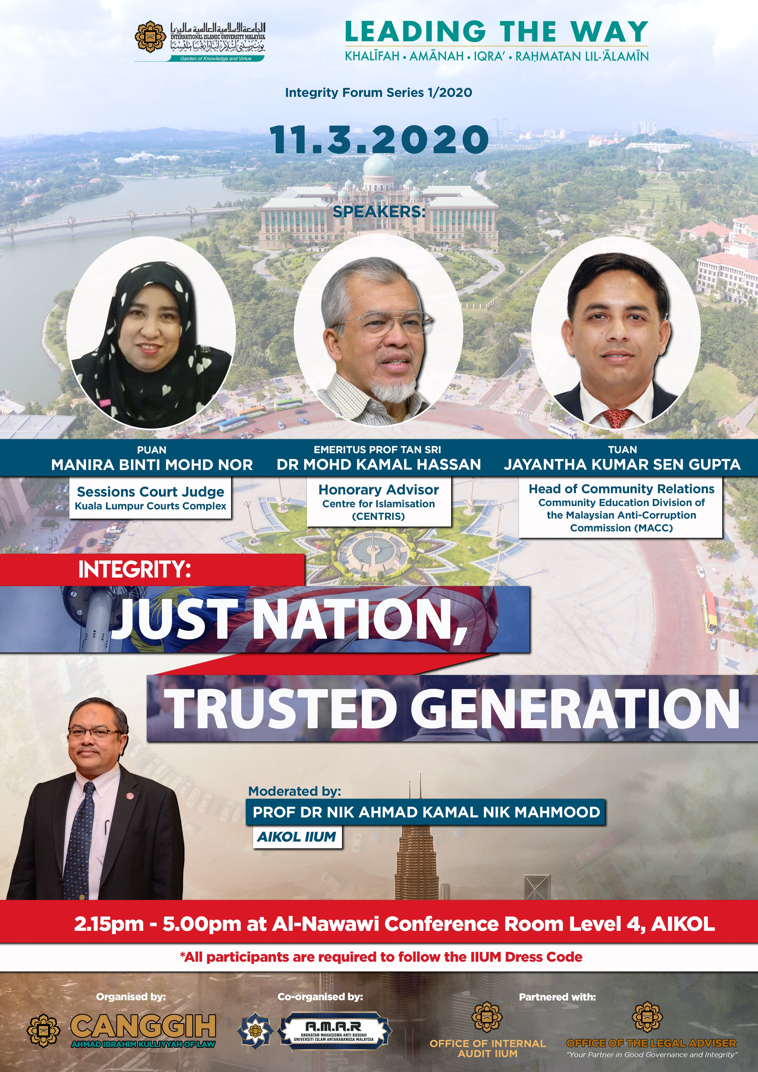 INTEGRITY FORUM 1/2020: JUST NATION, TRUSTED GENERATION