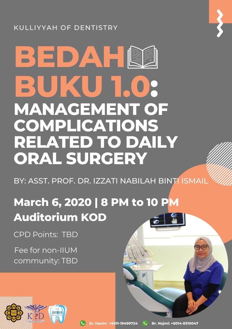 Bedah Buku 1.0: Management of Complications Related to Daily Oral Surgery