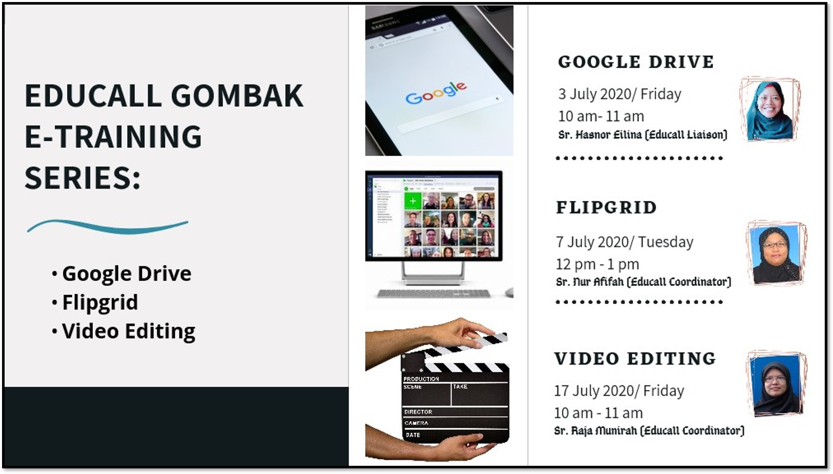 EDUCALL Gombak e-Training Series: Google Drive, Flipgrid & Video Editing