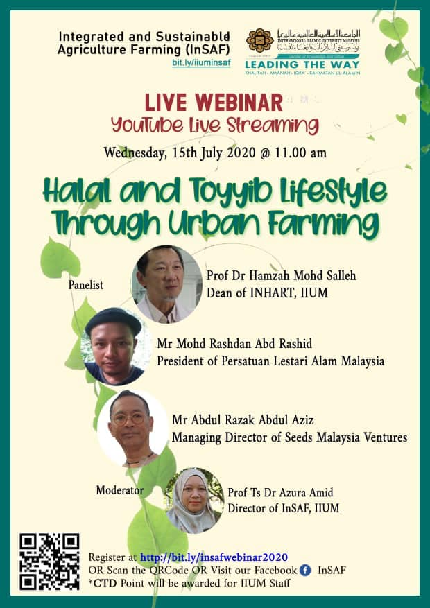 InSAF Live Webinar: Halal and Toyyib Lifestyle through Urban Farming