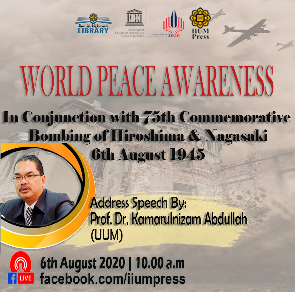 SPECIAL ADDRESS SPEECH ON WORLD PEACE AWARENESS