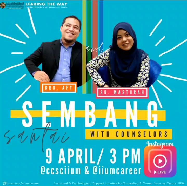 Instagram Live Session - Sembang Santai with Counselors 1