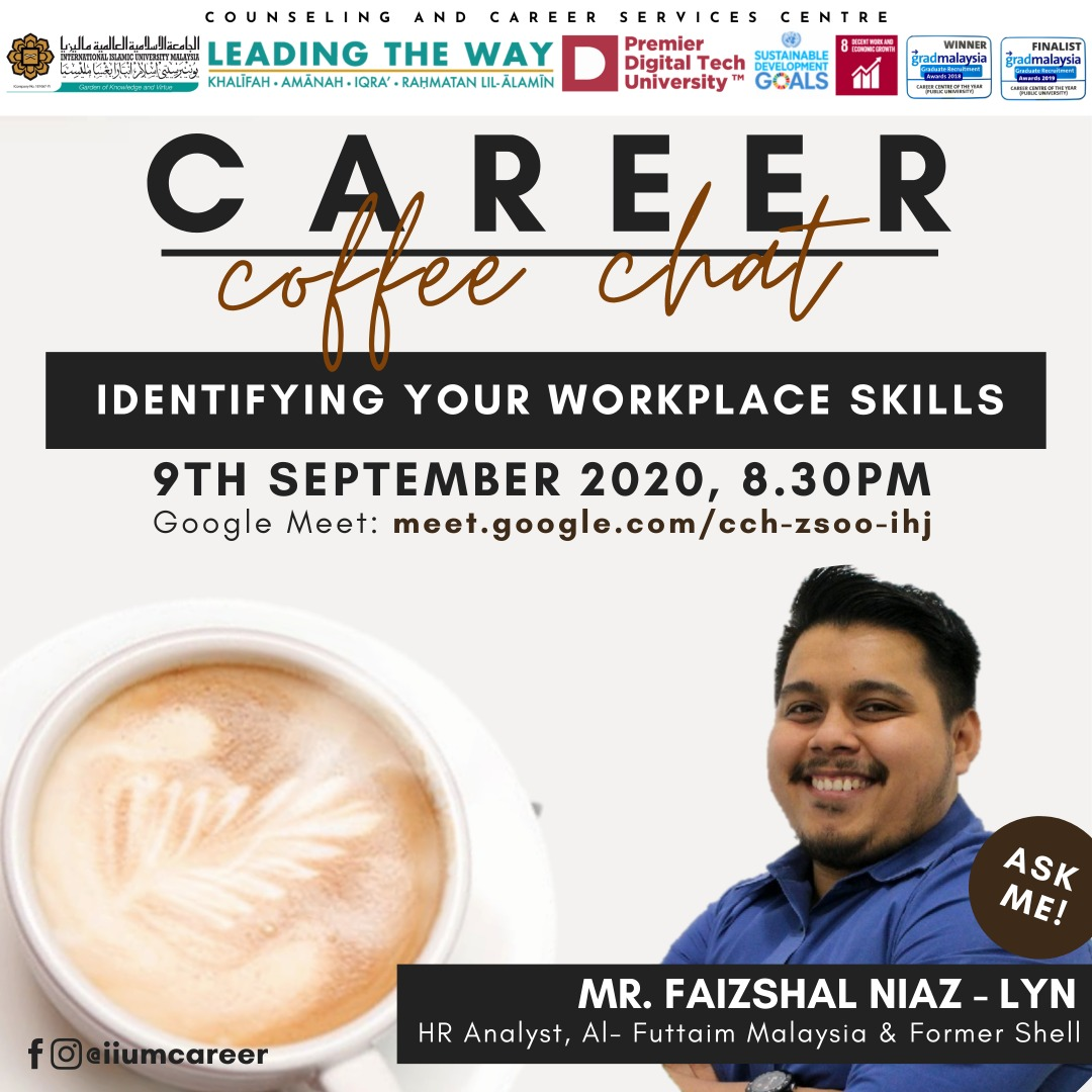 CAREER COFFEE CHAT - IDENTIFYING YOUR WORKPLACE SKILLS
