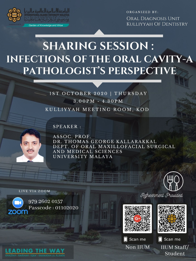 Sharing Session: Infections of the Oral Cavity: A Pathologist's Perspective