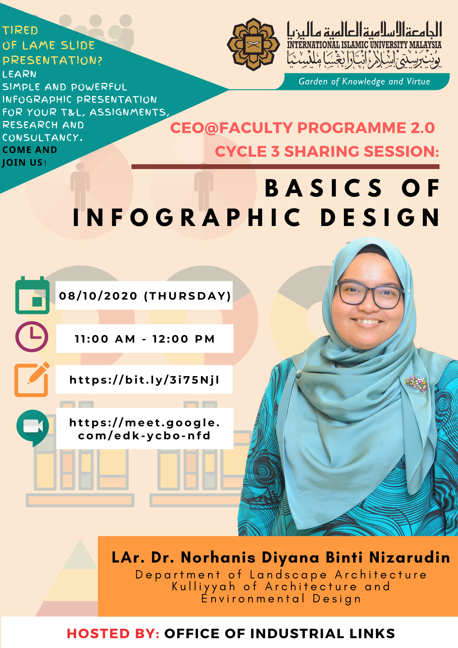 "INVITATION TO ATTEND WEBINAR SESSION ON ""CEO@FACULTY PROGRAMME 2.0 CYCLE 3 SHARING SESSION: BASICS OF INFOGRAPHIC DESIGN"""