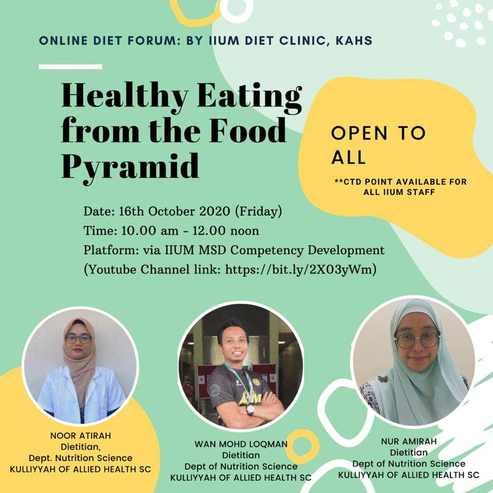 Healthy Eating - Come join the online talk!