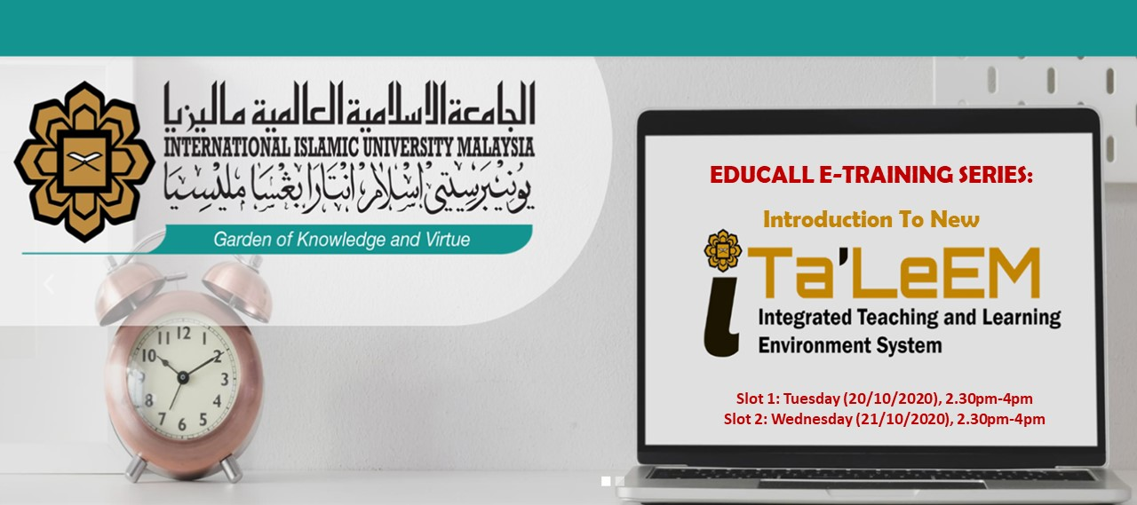 EDUCALL e-Training Series: Introduction to New iTa'LeEM