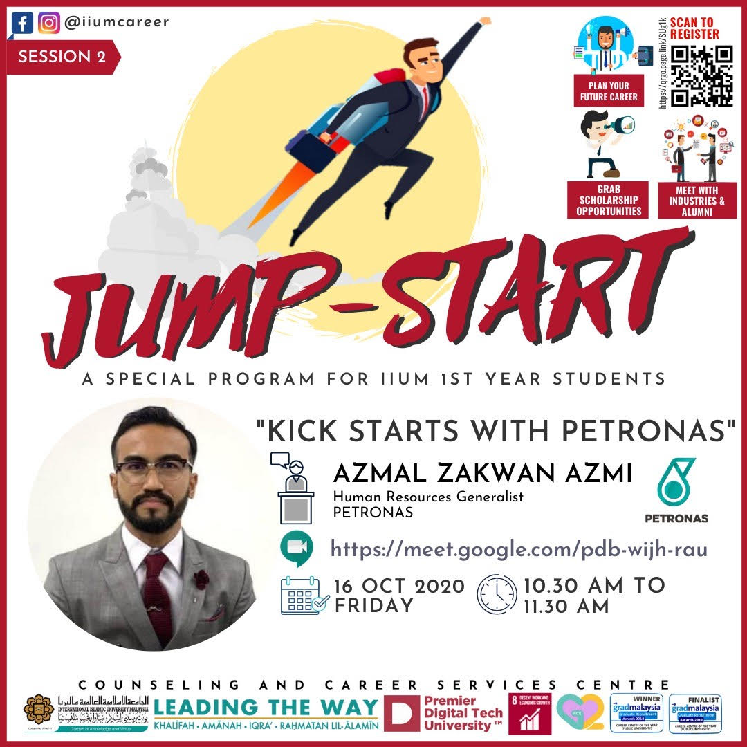IIUM JUMP START PROGRAMME 2020 - SESSION 2 :KICK STARTS WITH PETRONAS