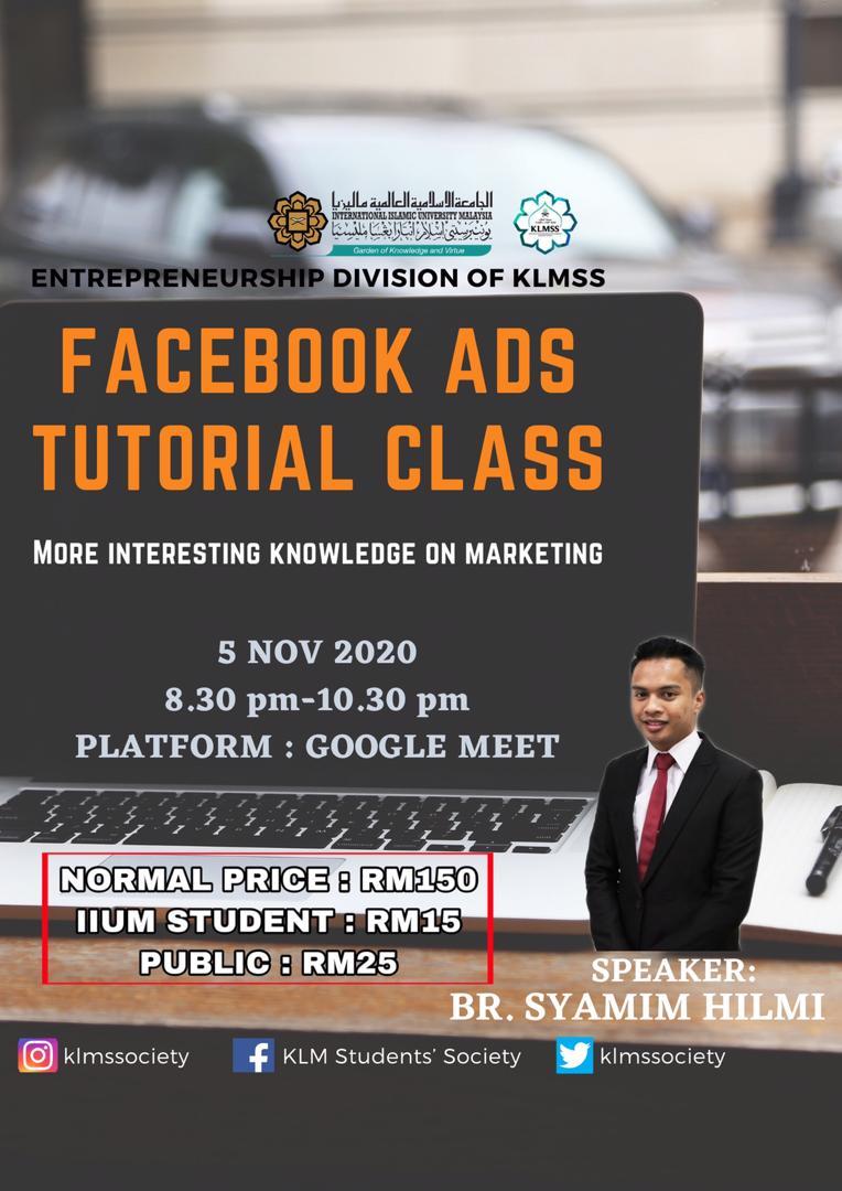 Facebook Ads tutorial class