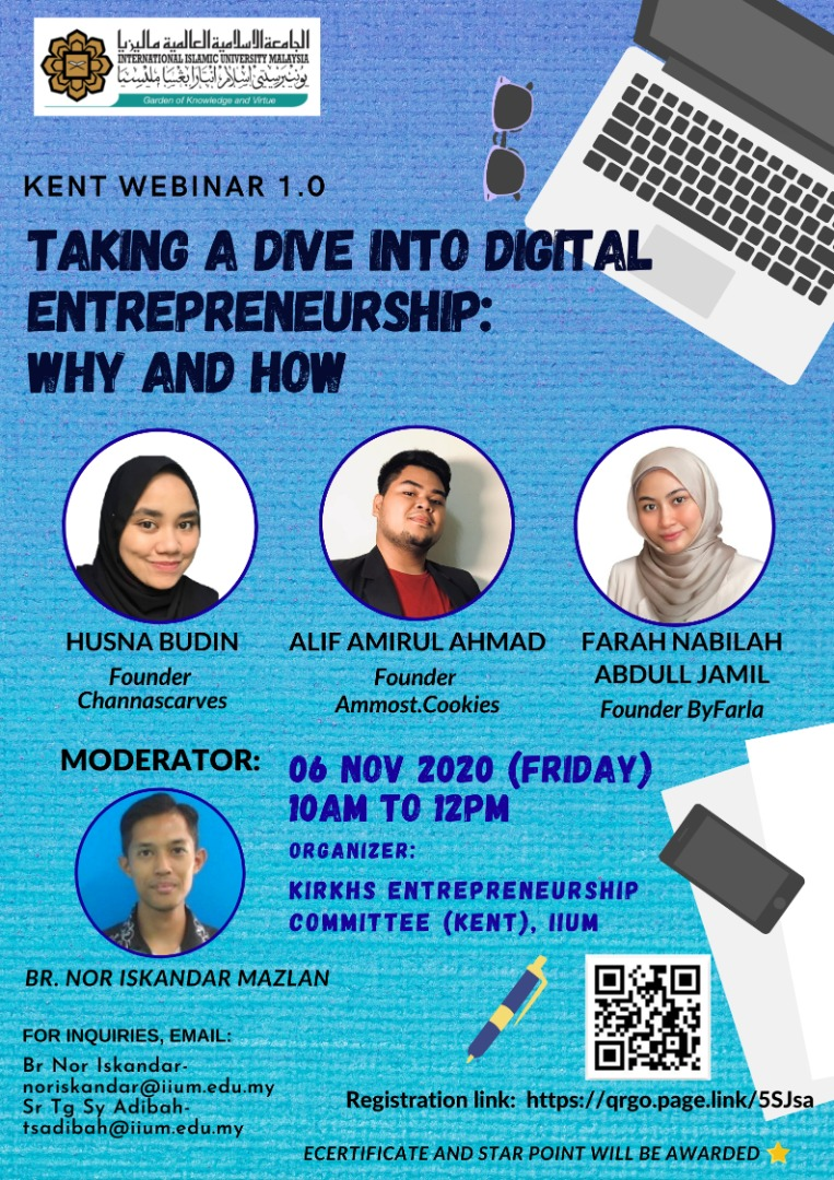 KENT Webinar 1.0 : Taking a Dive into Digital Entrepreneurship: Why & How