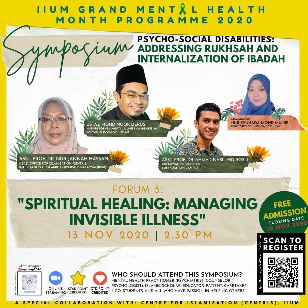 """SPIRITUAL HEALING: MANAGING INVISIBLE ILLNESS"""