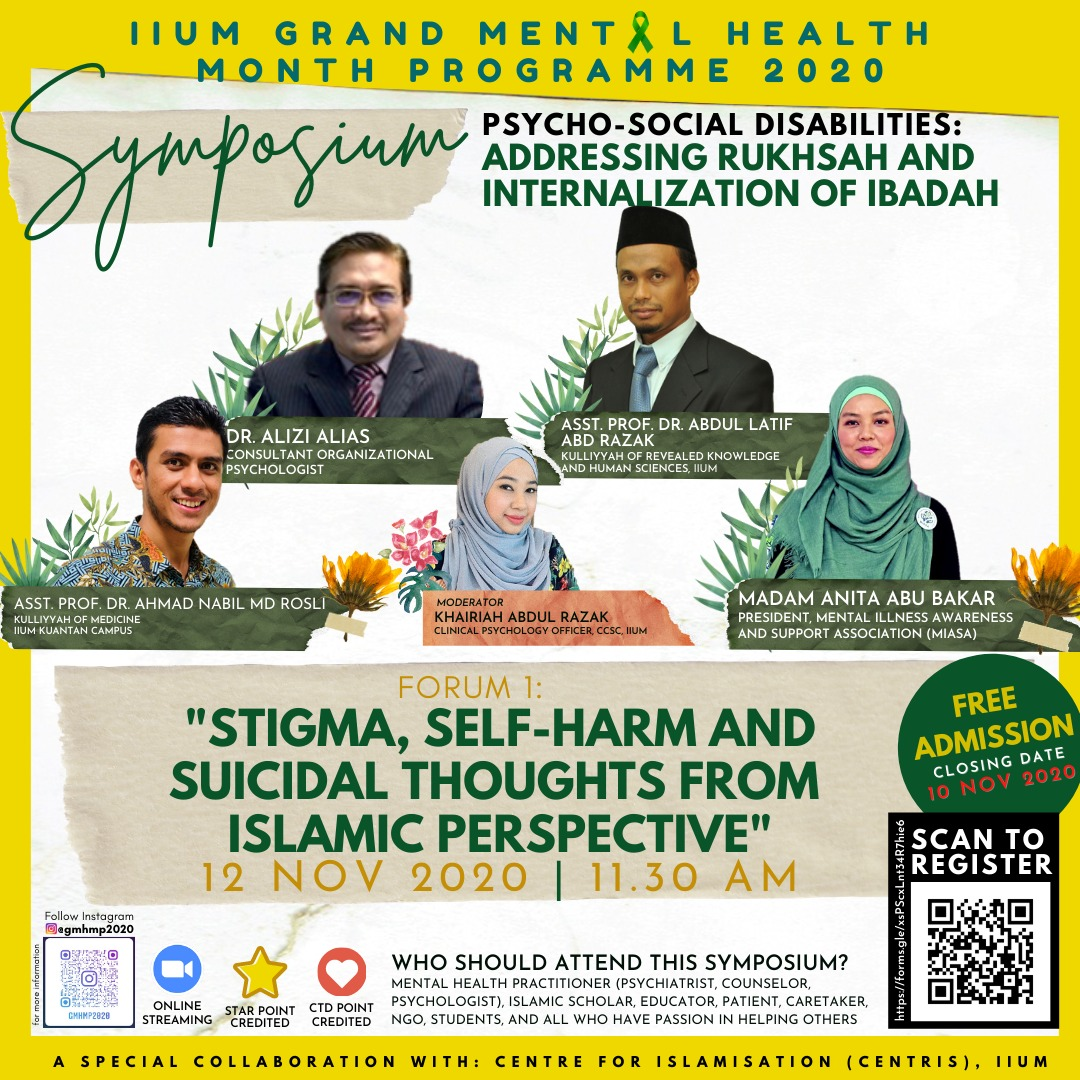 """STIGMA,SELF-HARM AND SUICIDAL THOUGHTS FROM ISLAMIC PERSPECTIVE """