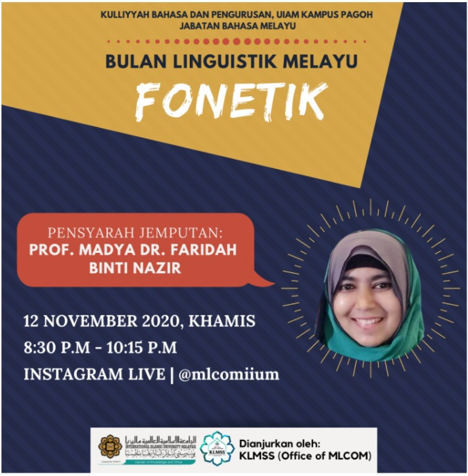 Bulan Linguistik Melayu : Fonetik