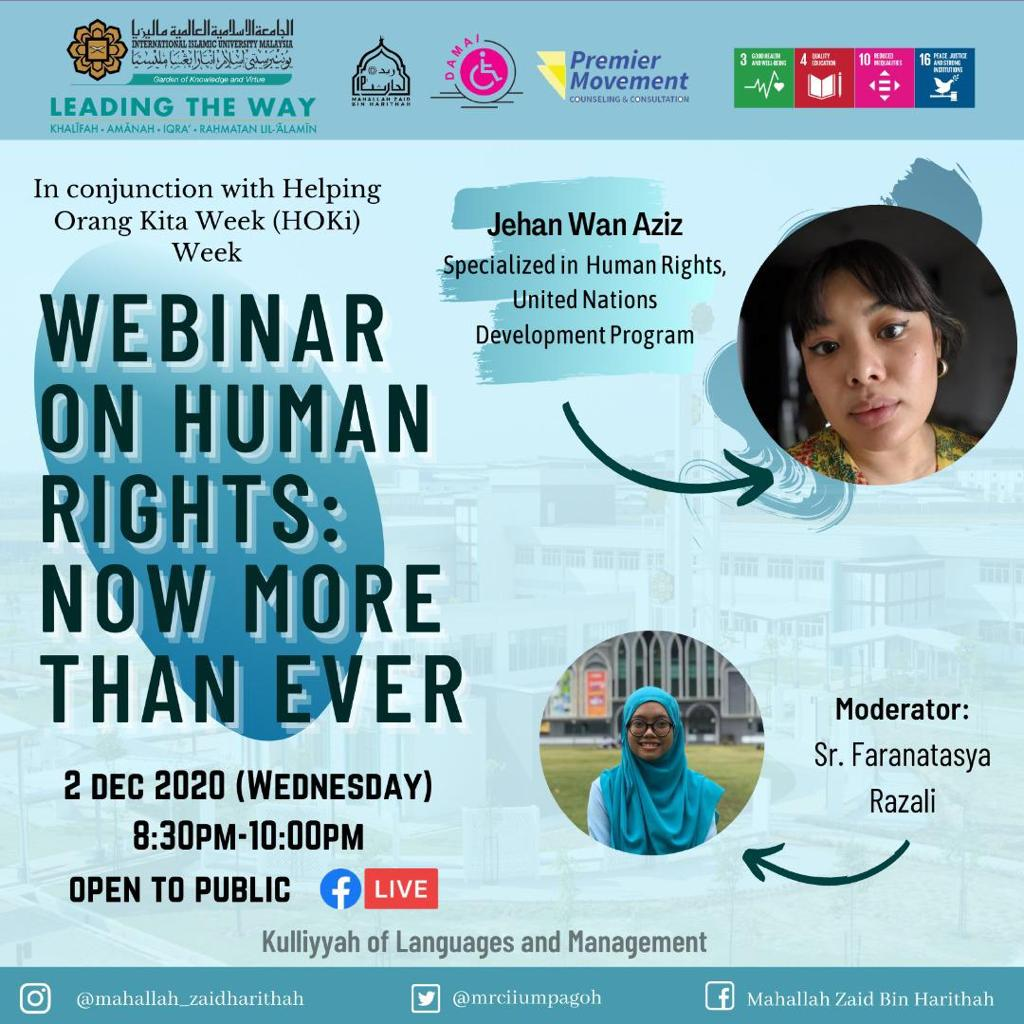 Webinar on human rights : Now more than ever