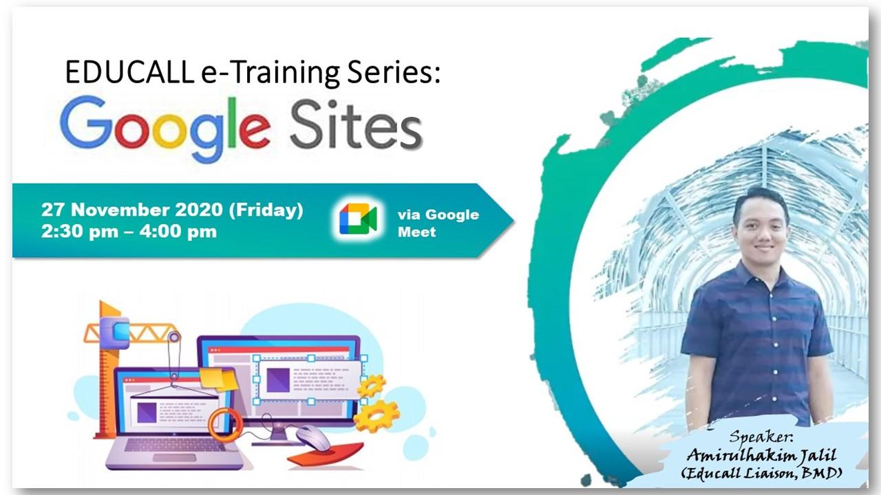 EDUCALL e-Training Series: Google Sites