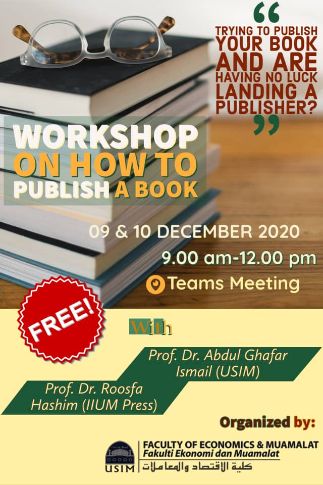 WORKSHOP ON HOW TO PUBLISH A BOOK