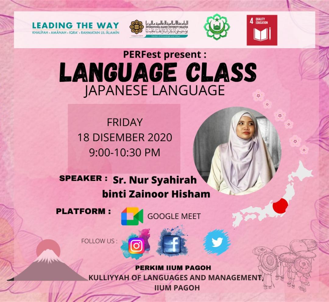 Language Class : Japanese Language