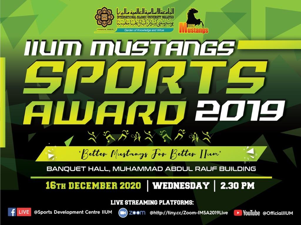 IIUM MUSTANGS SPORT AWARD 2019 (IMSA 2019)