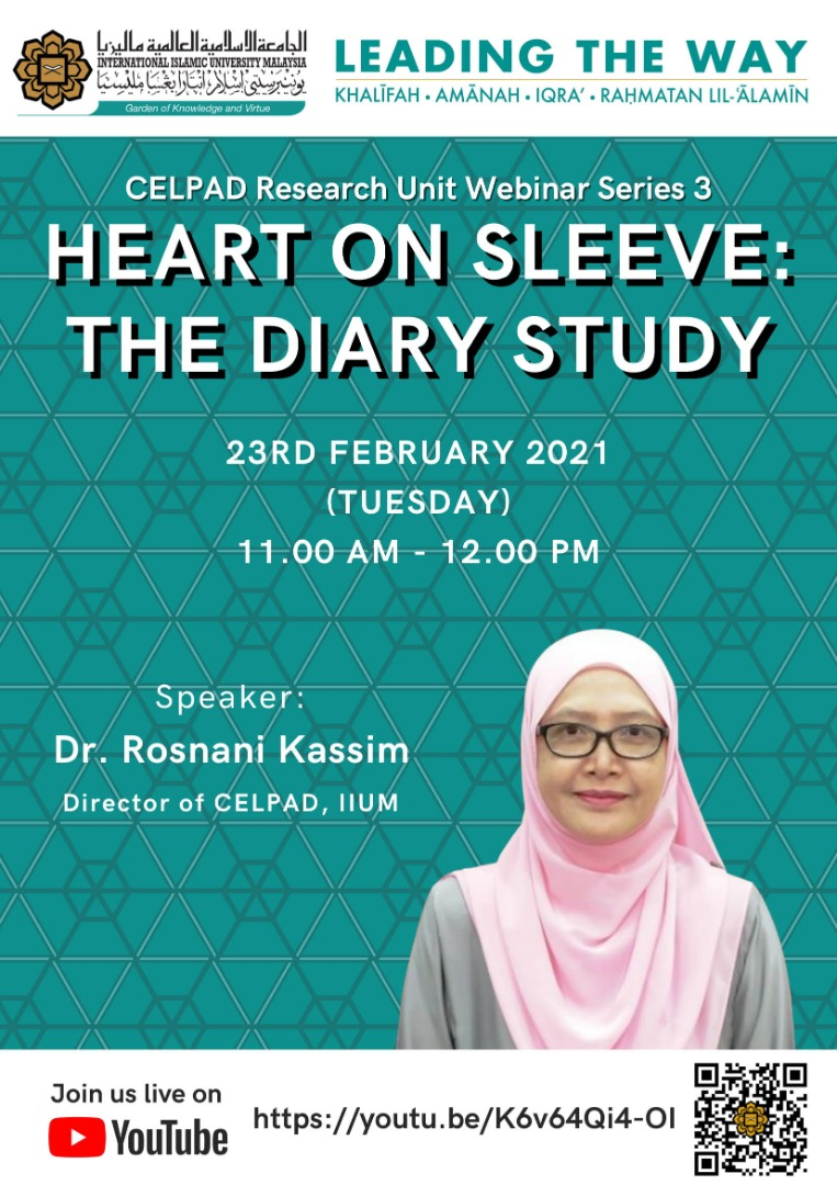 CELPAD Research Unit Webinar Series 3: Heart on Sleeve: The Diary Study
