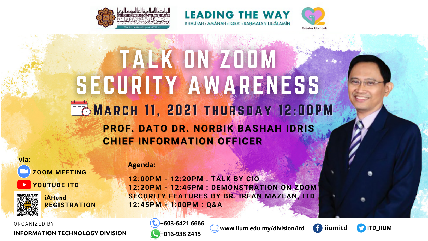TALK ON ZOOM SECURITY AWARENESS