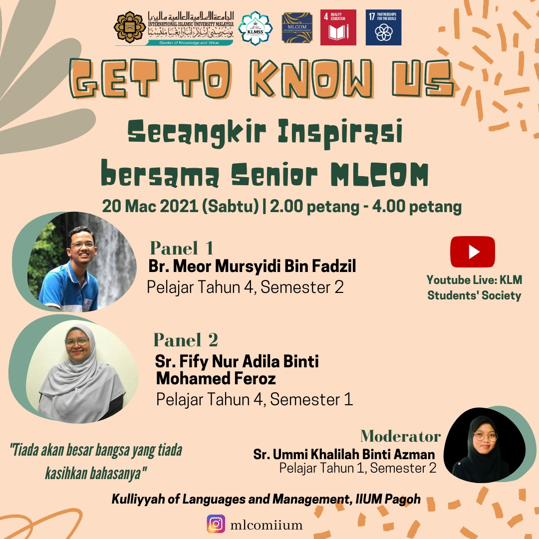 Get to know us : Secangkir inspirasi bersama senior MLCOM