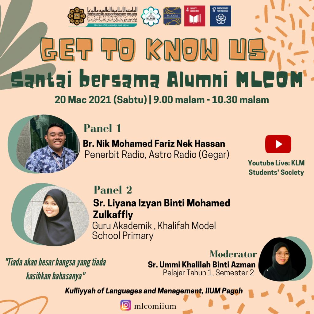 Get to know us : Santai bersama alumni MLCOM