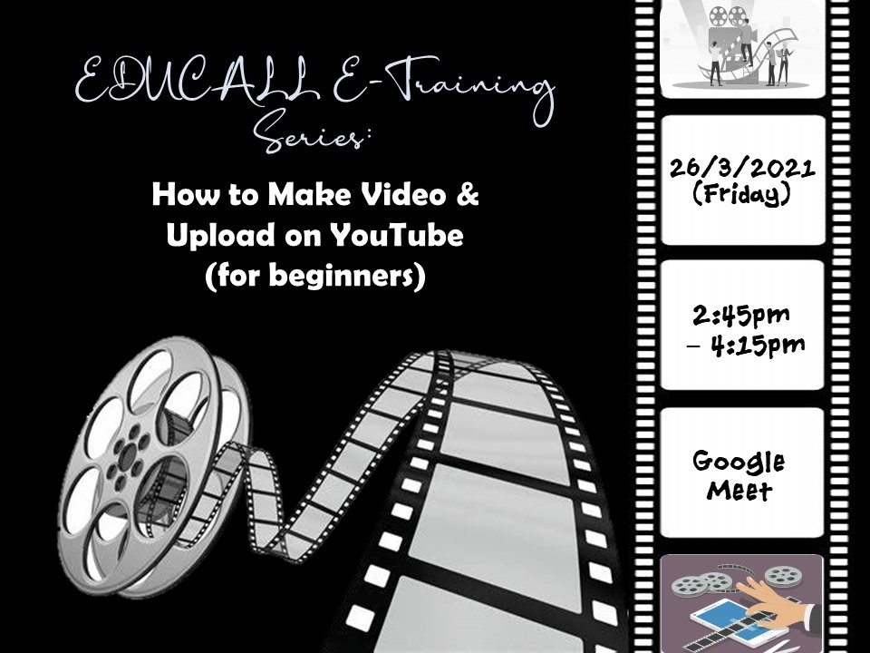 EDUCALL eTraining Series: How to Make Video & Upload on YouTube