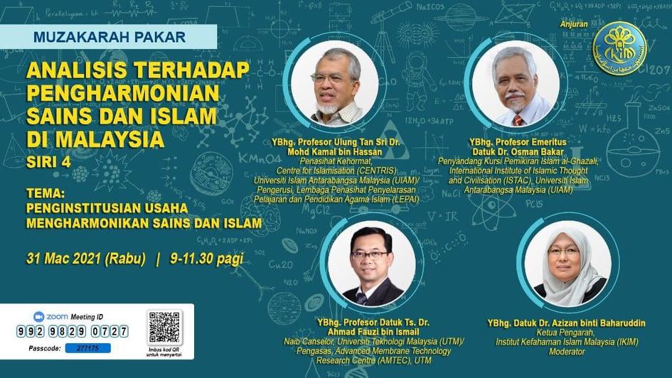 ANALISIS TERHADAP PENGHARMONIAN SAINS DAN ISLAM DI MALAYSIA