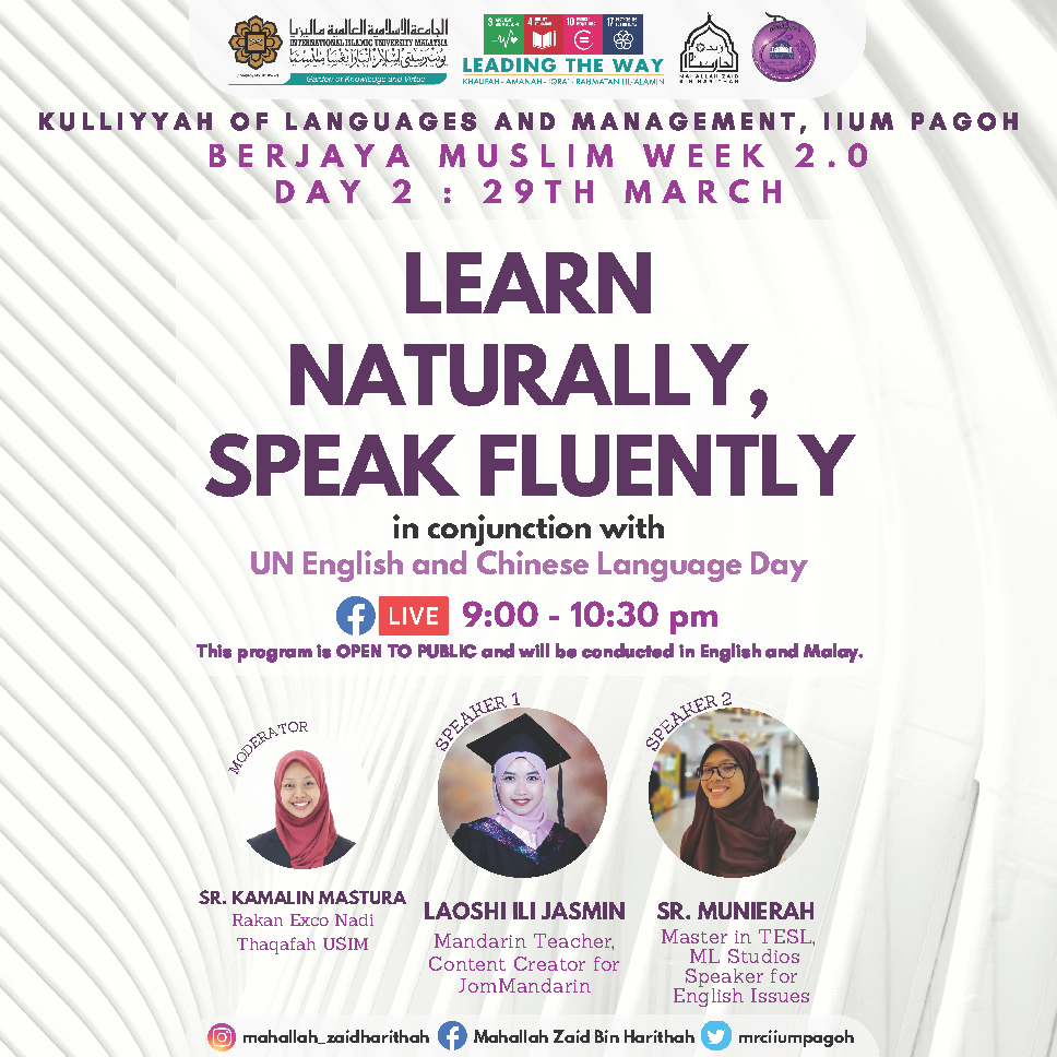 Berjaya Muslim Week 2.0 : Learn Naturally, Speak Fluently