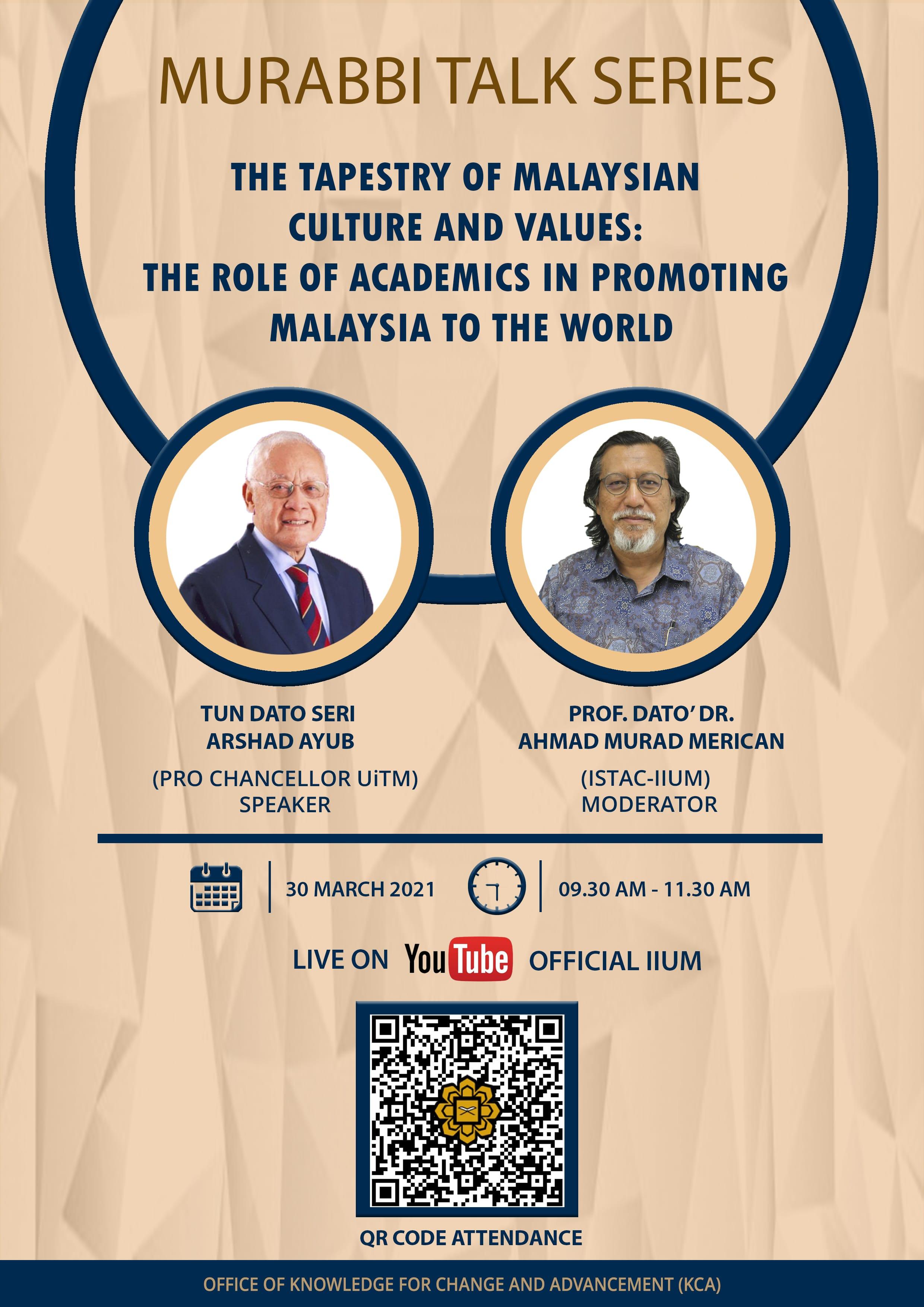 Murabbi Talk Series: Tun Arshad Ayub