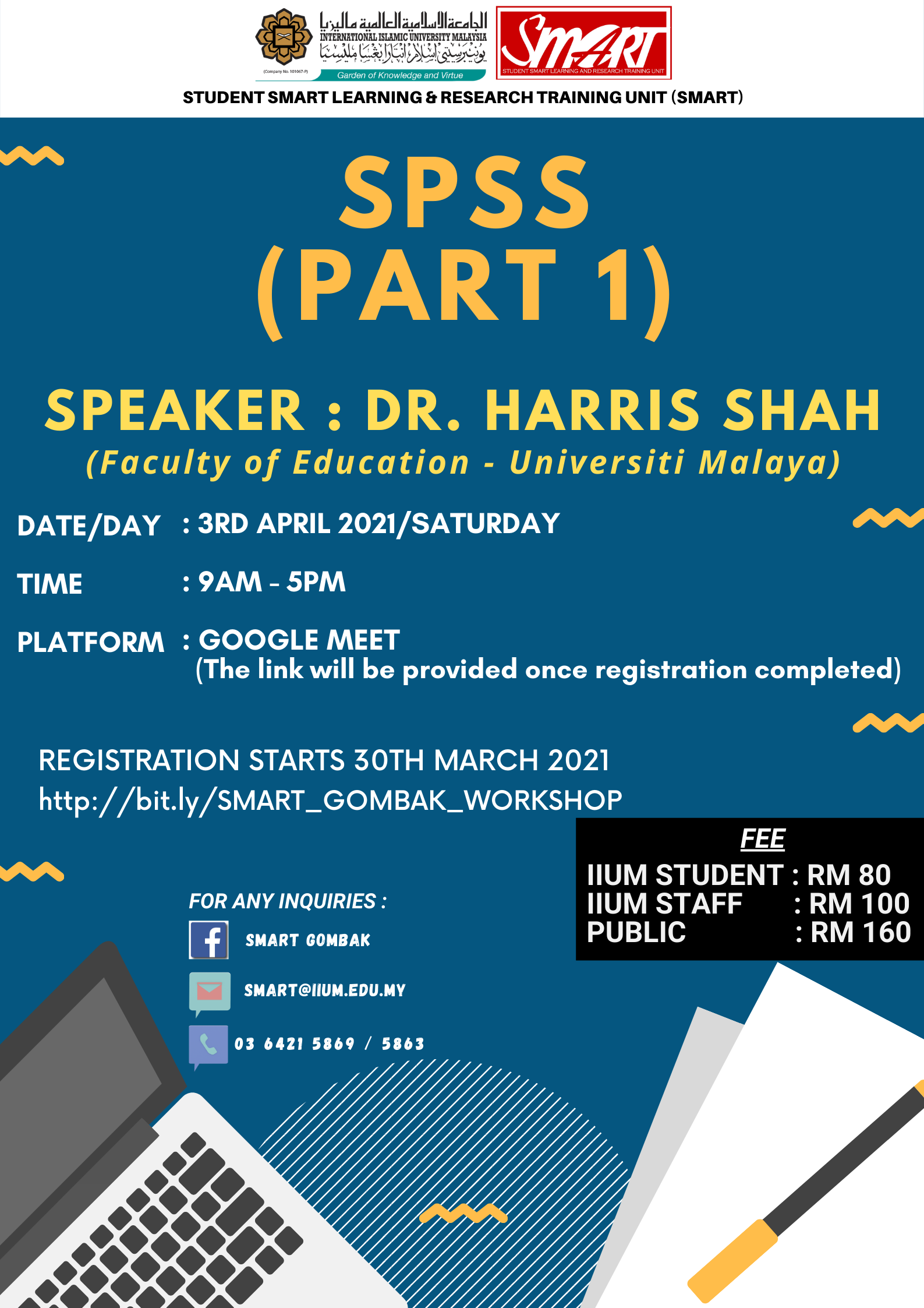 WORKSHOP : SPSS (PART 1)