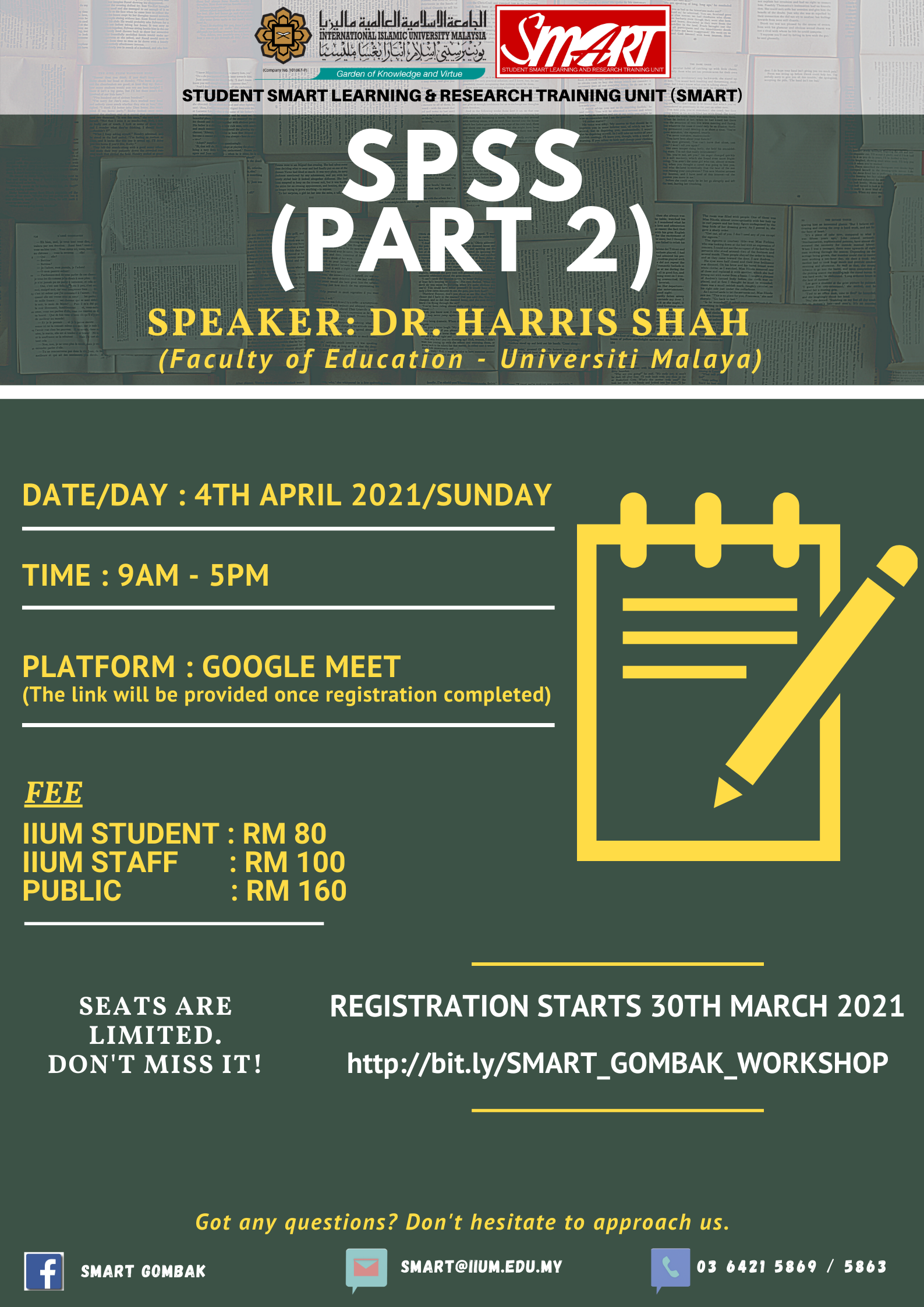WORKSHOP : SPSS (PART 2)