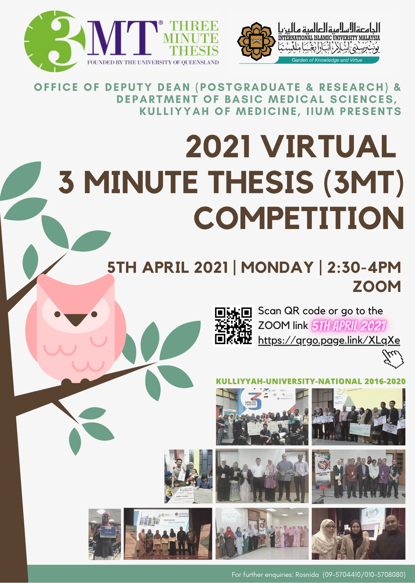 2021 Virtual 3-Minute Thesis Competition