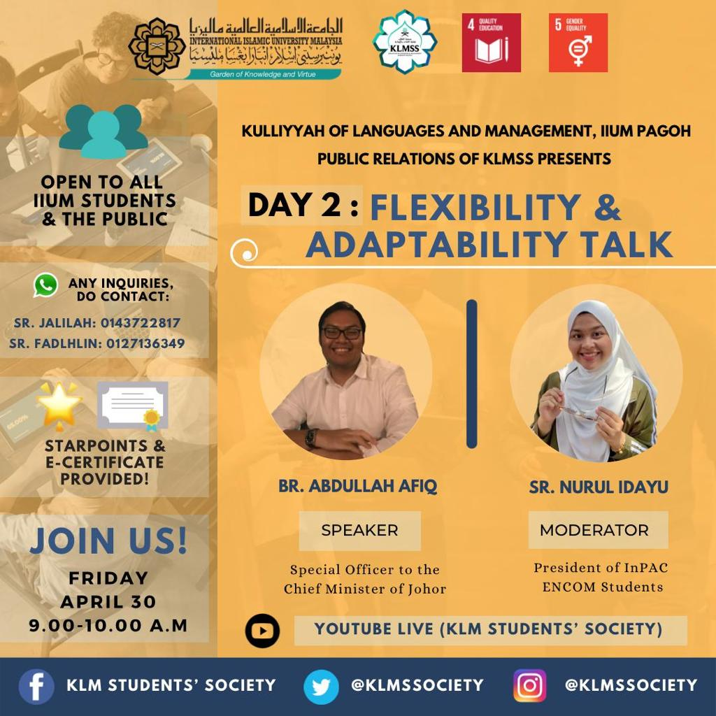 Flexibility & Adaptability Talk