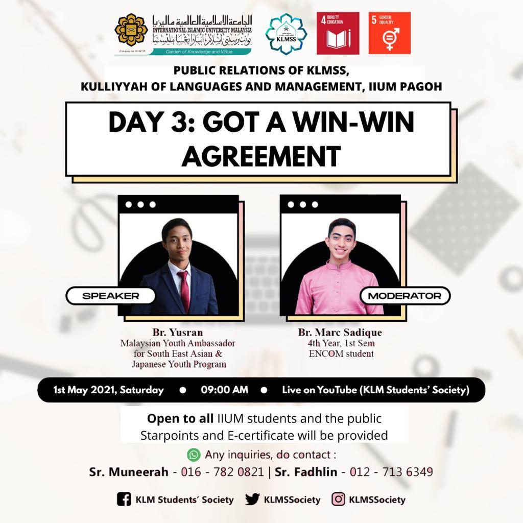 Got a Win-Win Agreement