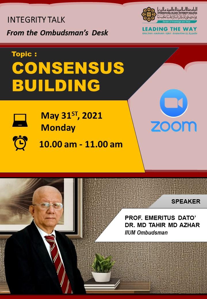 Integrity Talk on Consensus Building