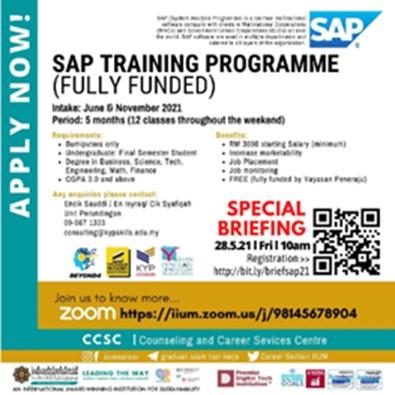 Job Hunting Strategies 3.0: System Analysis Program (SAP) Certificate