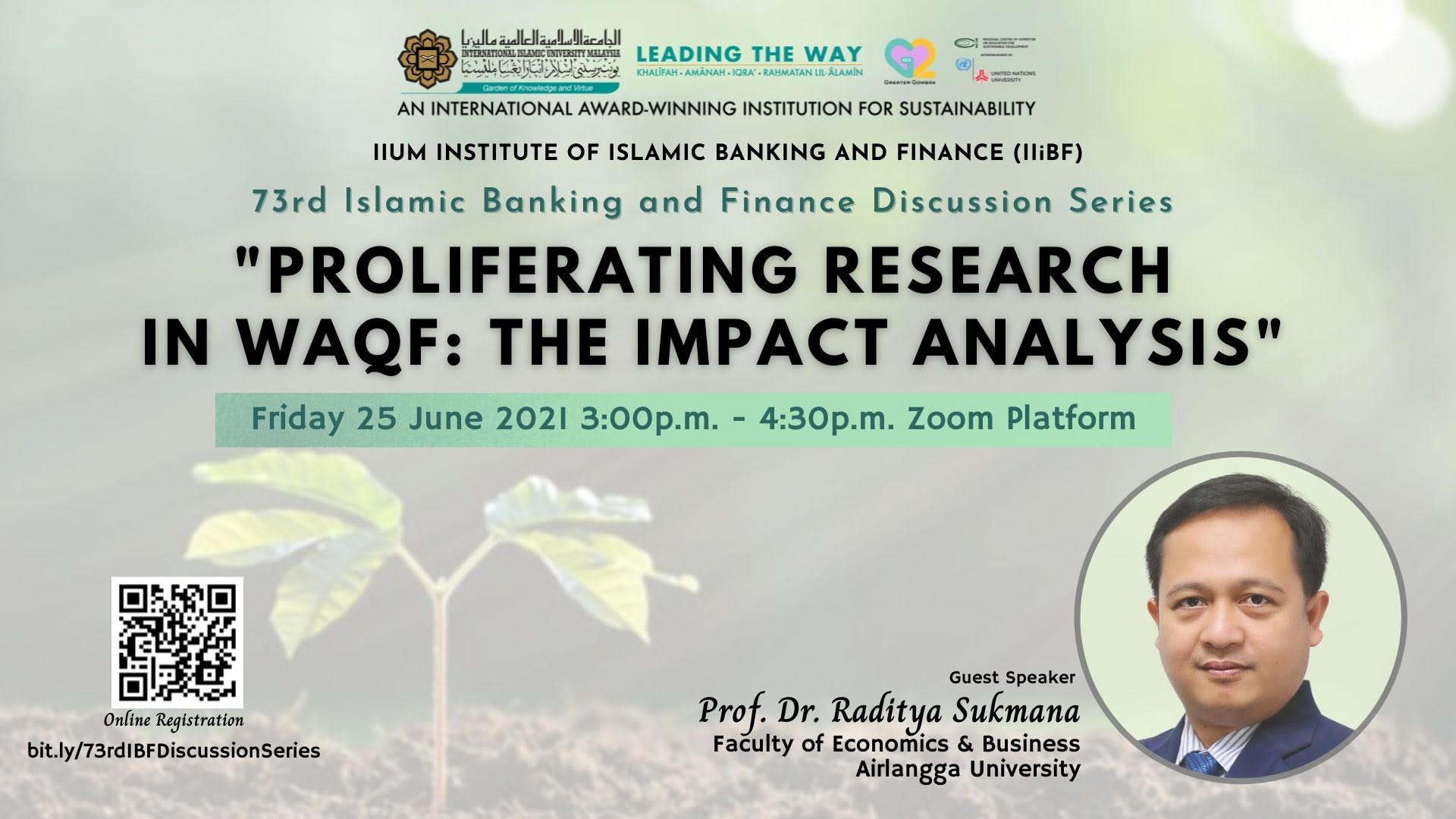 73rd ISLAMIC BANKING AND FINANCE DISCUSSION SERIES