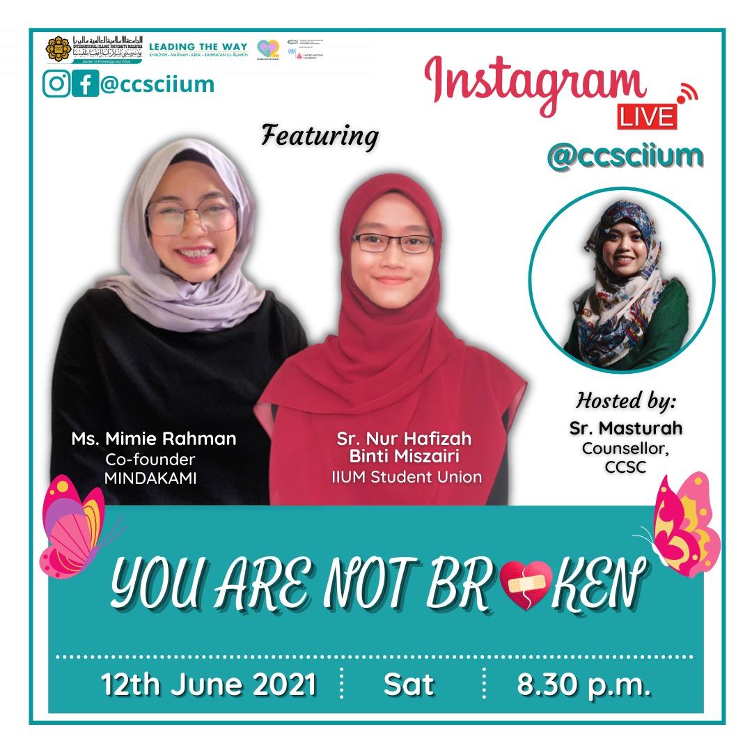 NSTAGRAM LIVE@ccsciium - YOU ARE NOT BROKEN