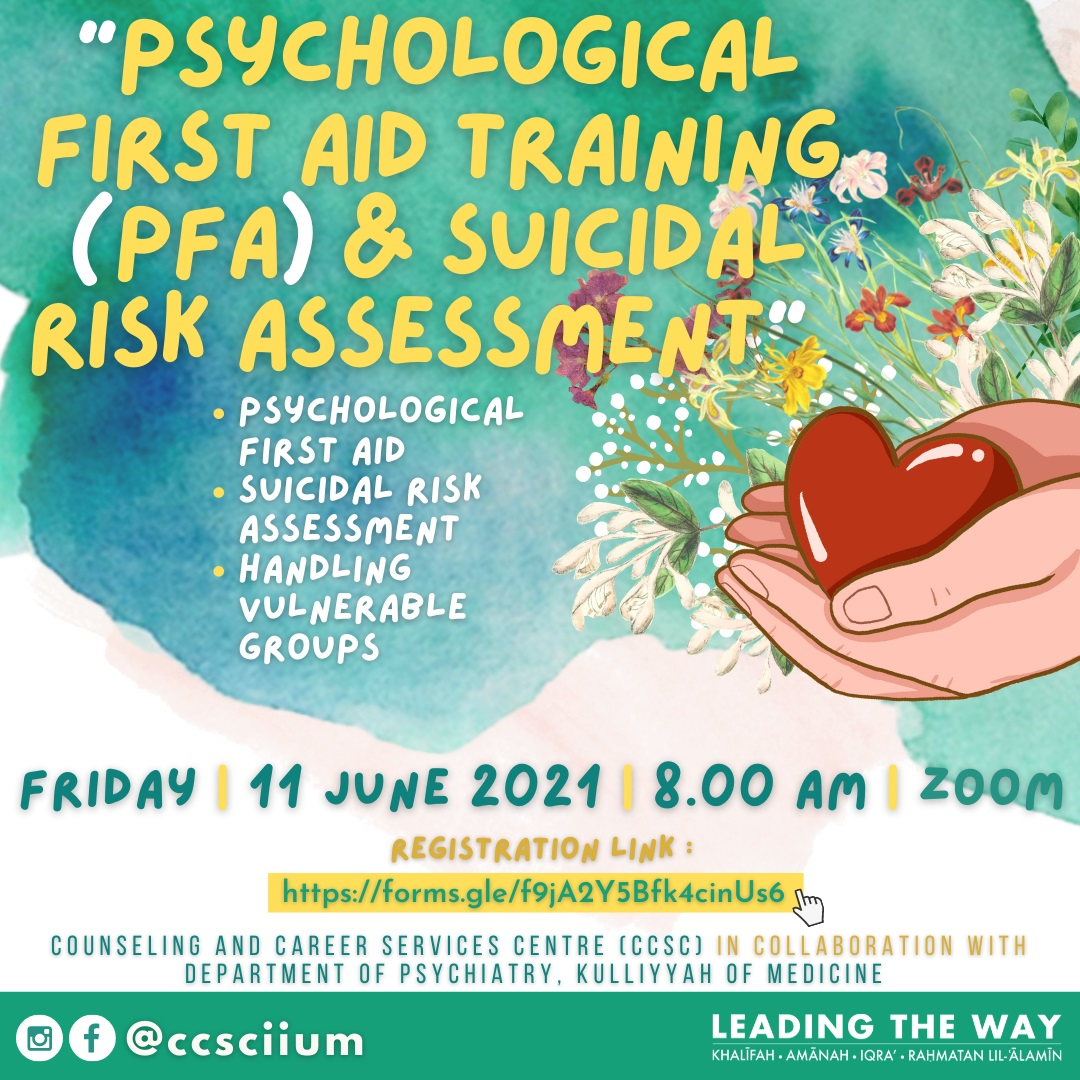 Training of Psychological First Aid (PFA) and Suicidal Risk Assessment