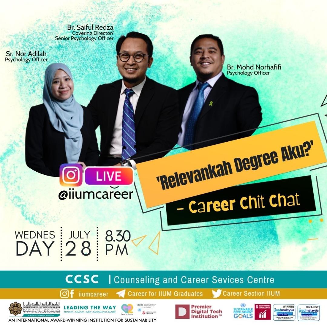 Career Chit-Chat:Relevantkah Degree Aku