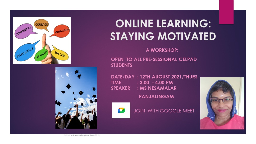 CILLC-SFErA WORKSHOP: ONLINE LEARNING: STAYING MOTIVATED