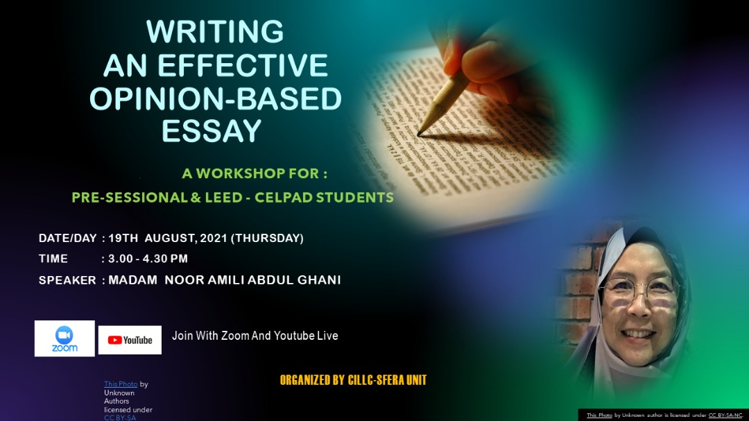 CILLC-SFErA WORKSHOP: WRITING AN EFFECTIVE OPINION-BASED ESSAY