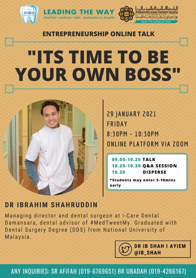 """Entrepreneurship Online Talk: """"Its time to be your own boss"""""""
